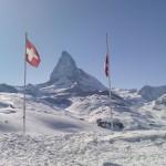 Blick vom Riffelberg bei Neuschnee