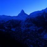 Blick vom Haus Morgenrot zur blauen Stunde